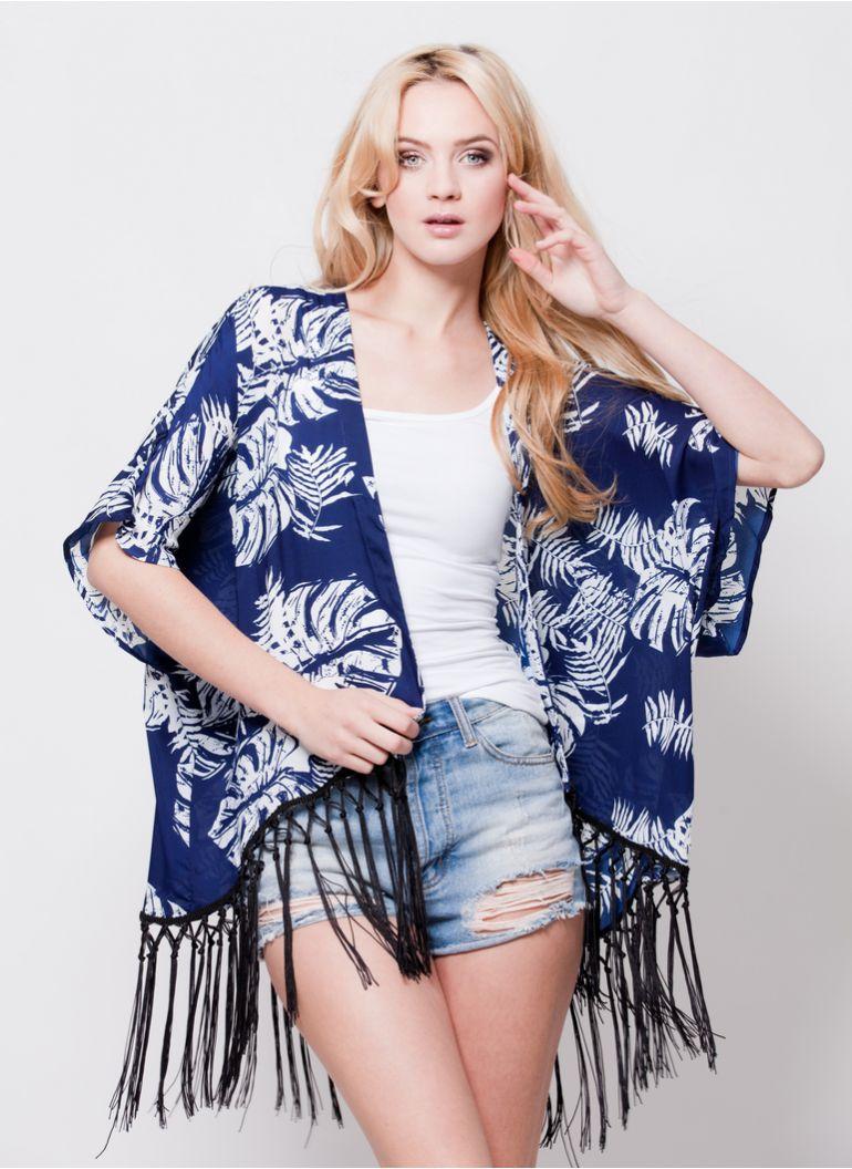 kimono z frędzlami